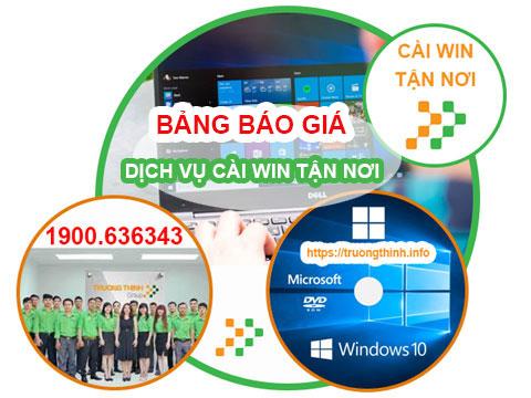 Bảng Giá Chi Phí Dịch Vụ Cài Lại Win Tận Nơi